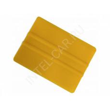Ракель желтый, жесткий.