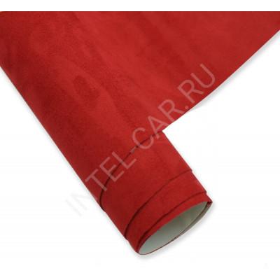 Алькантара самоклеющаяся (Китай) Красная