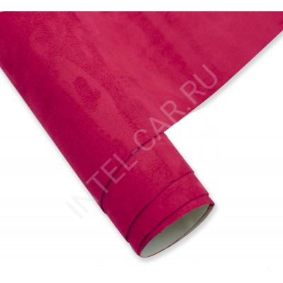 Алькантара самоклеющаяся (Китай) Красно-розовая