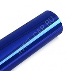 Пленка зеркальный хром синий