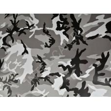 Камуфляж черно белый, зимний