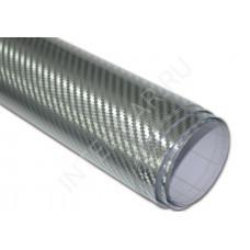 Пленка Карбон 3D хром - серебро