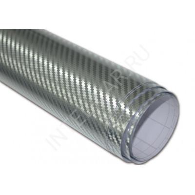 Пленка Карбон 3D хром серебро PSK