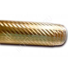Пленка Карбон 3D хром - золото