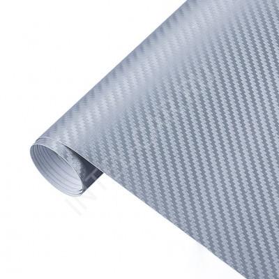 Пленка Карбон 3D серебро KSF
