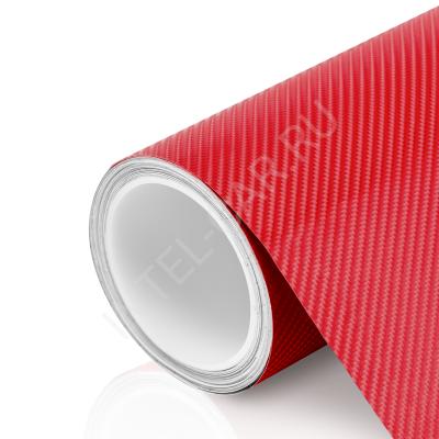 Пленка Карбон 4D красный