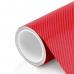 Пленка Карбон 4D красный Nippon