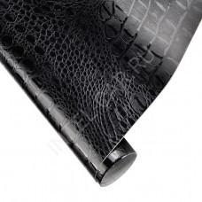 Пленка под кожу аллигатора (крокодила) черная