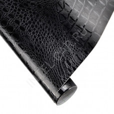 Пленка под кожу аллигатора / крокодила AFB черная