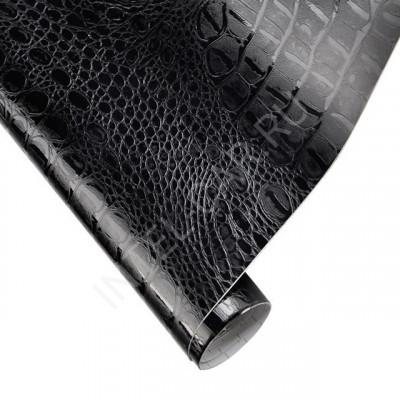 Пленка под кожу аллигатора (крокодила) черная AFB
