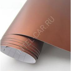 Автовинил Матовый хром \ металлик - коричневый.