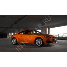 Автовинил Матовый хром \ металлик - оранжевый