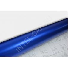 Матовый хром \ металлик синий