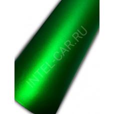 Автовинил Матовый хром \ металлик - зеленый.