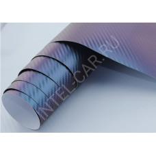 Пленка Хамелеон Карбон 3D - Сине-фиолетовый