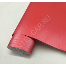 Пленка шлифованный алюминий красный