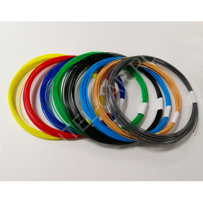 Набор пластика для 3д ручек, PLA, 1.75 мм 8 цветов. (80м)