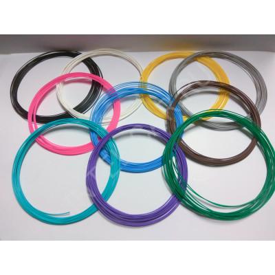Набор пластика для 3д ручек, PLA, 1.75 мм 10 цветов. (100м)
