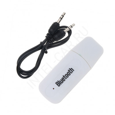 Bluetooth AUX адаптер H-163 белый