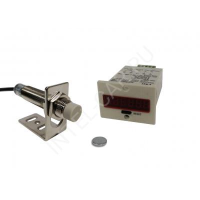 Электронный счетчик оборотов / тактов с индуктивным датчиком MR-3
