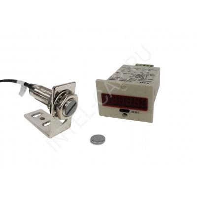 Электронный счетчик оборотов / тактов с магнитным датчиком Холла MR-3H